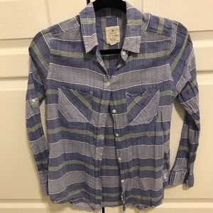 American Eagle boyfriend striped button up